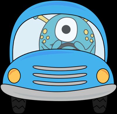 monster-driving-blue-car